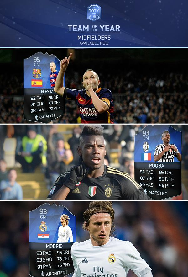FIFA 16 TOTY Midfielders fut 16 toty Full FUT 16 TOTY Details - FIFA 16 Ultimate Team Of The Year FIFA 16 TOTY Midfielders