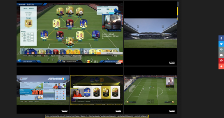 Multiview in action with 5 Streams ultimate fifa - ultimate yeah ! Ultimate FIFA - Ultimate Yeah ! Screen Shot 2016 07 20 at 14