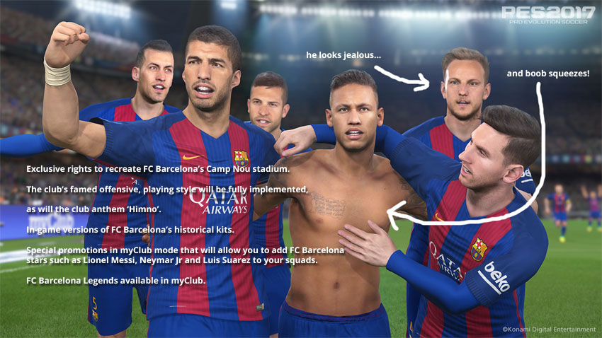 PES Barcelona Partnership fifa 17 nou camp FIFA 17 Nou Camp and UNDISPUTED Scientific Proof That Licencing Matters! pes benefits